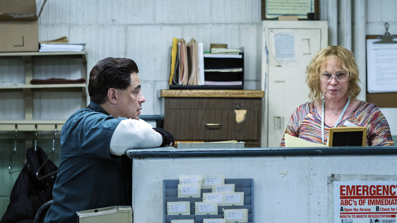 Patricia Arquette Plays Tilly, A Woman Who Helped Two Inmates Break Out Of Prison, In The Based-on-a-true-story Drama Escape At Dannemora. Benicio Del Toro Plays Escapee Richard Mat